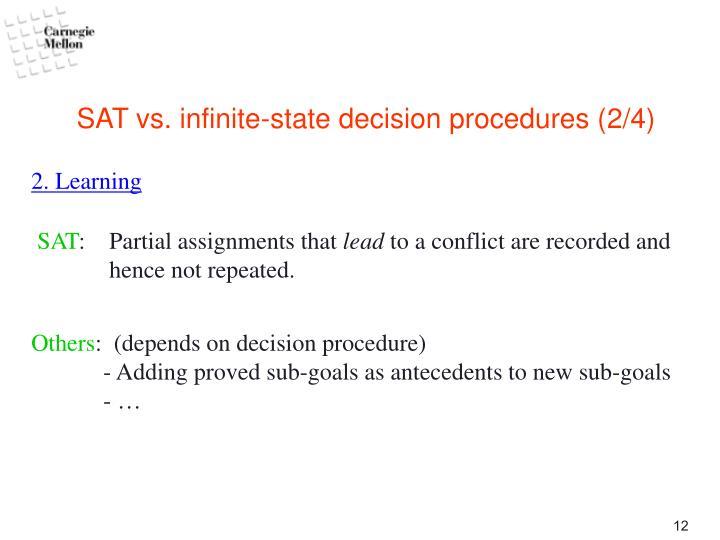 SAT vs. infinite-state decision procedures (2/4)