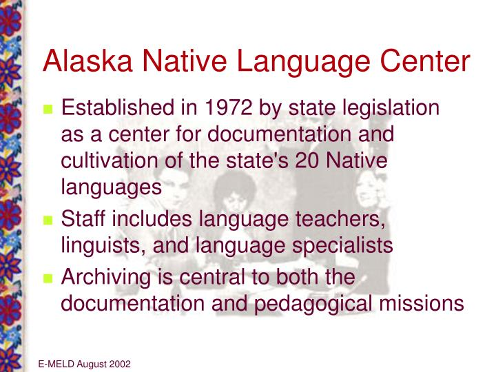 Alaska Native Language Center
