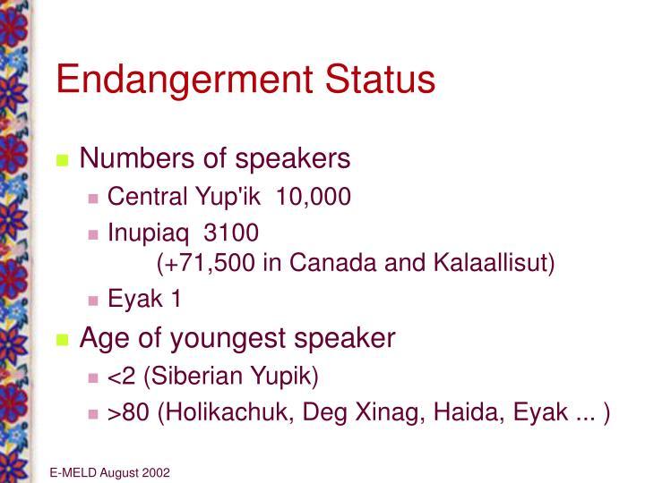 Endangerment Status