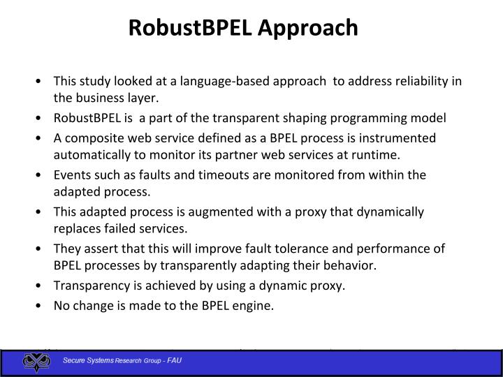 RobustBPEL Approach