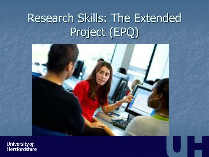 Research skills the extended project epq