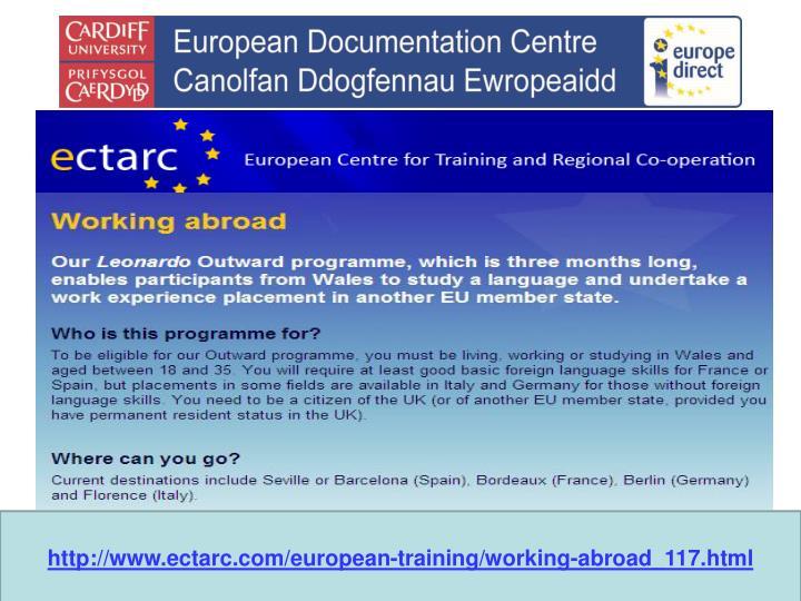 http://www.ectarc.com/european-training/working-abroad_117.html