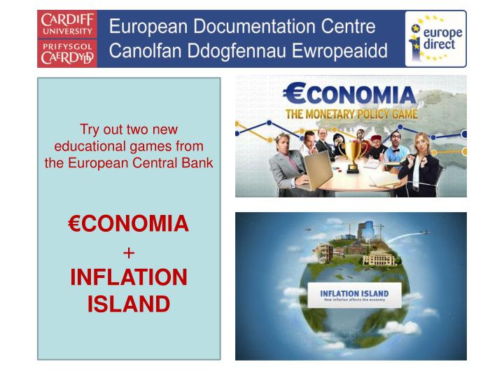 Try out two new educational games from the European Central Bank