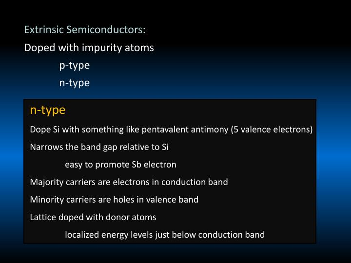 Extrinsic Semiconductors: