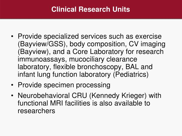 Clinical Research Units