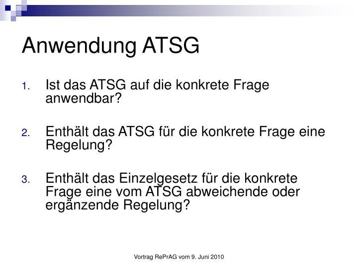 Anwendung ATSG