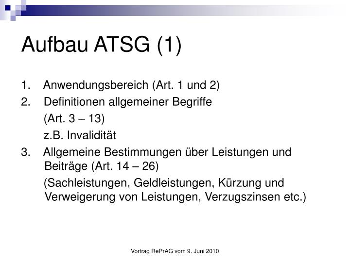 Aufbau ATSG (1)