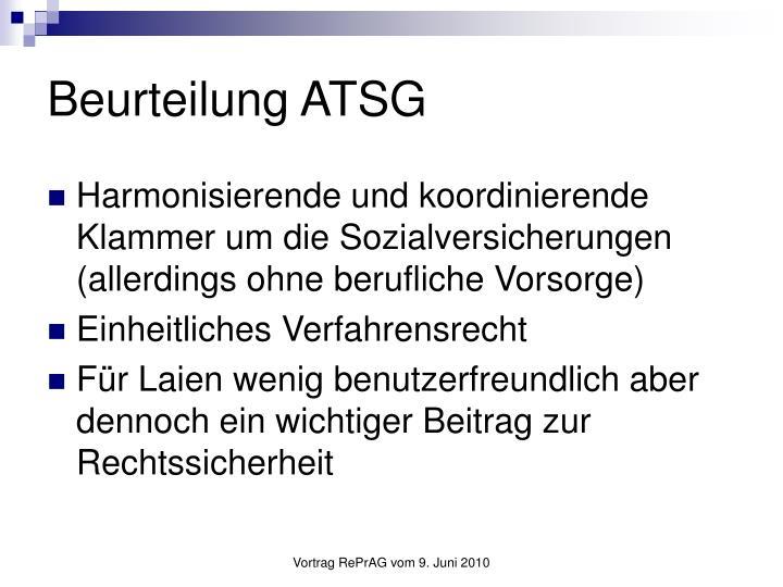Beurteilung ATSG