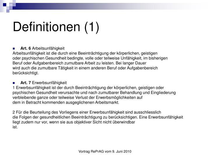 Definitionen (1)
