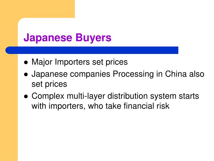 Japanese Buyers