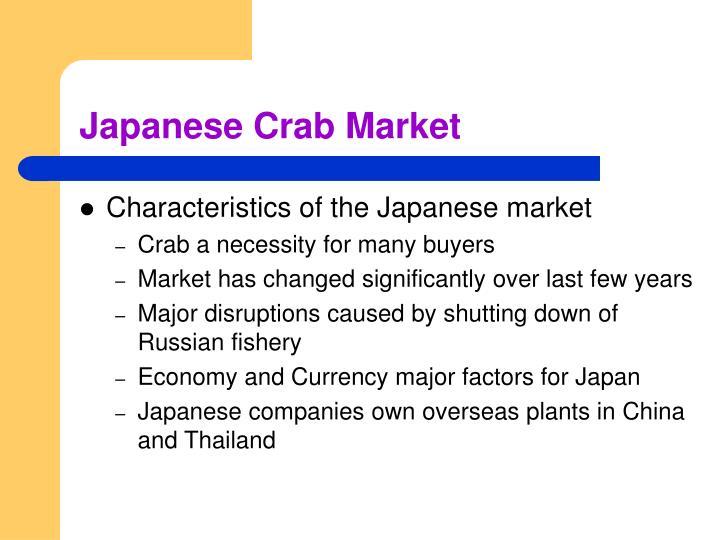 Japanese Crab Market