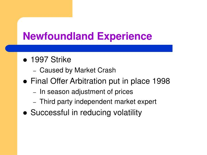 Newfoundland Experience