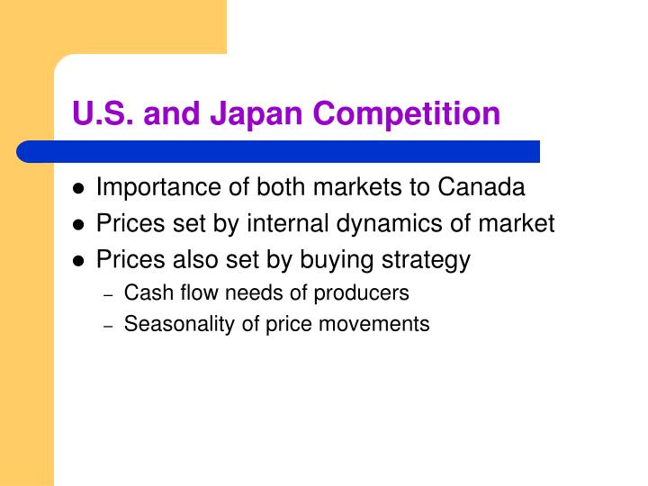 U.S. and Japan Competition