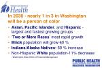 in 2030 nearly 1 in 3 in washington will be a person of color