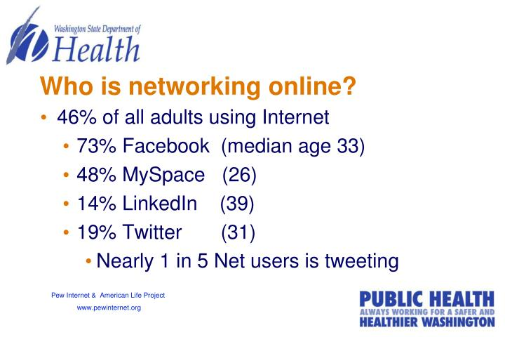 Who is networking online?