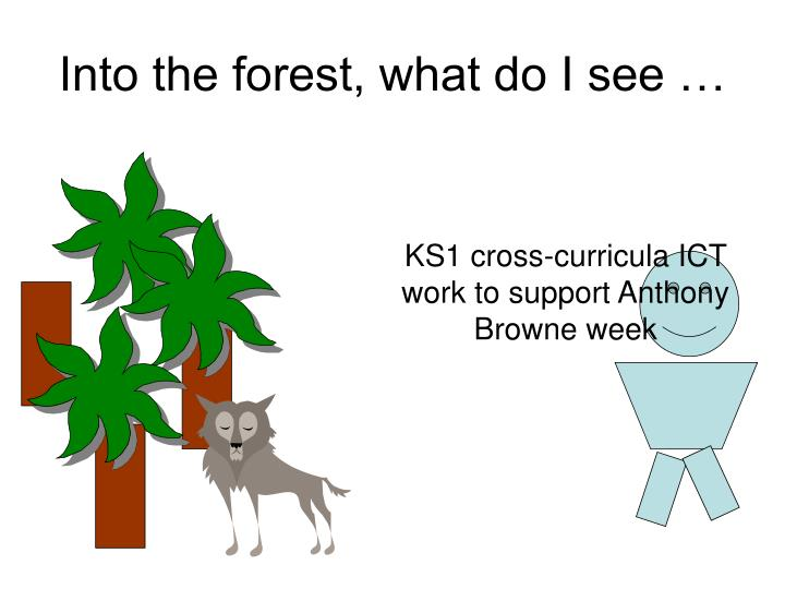 Into the forest, what do I see …
