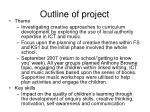 outline of project