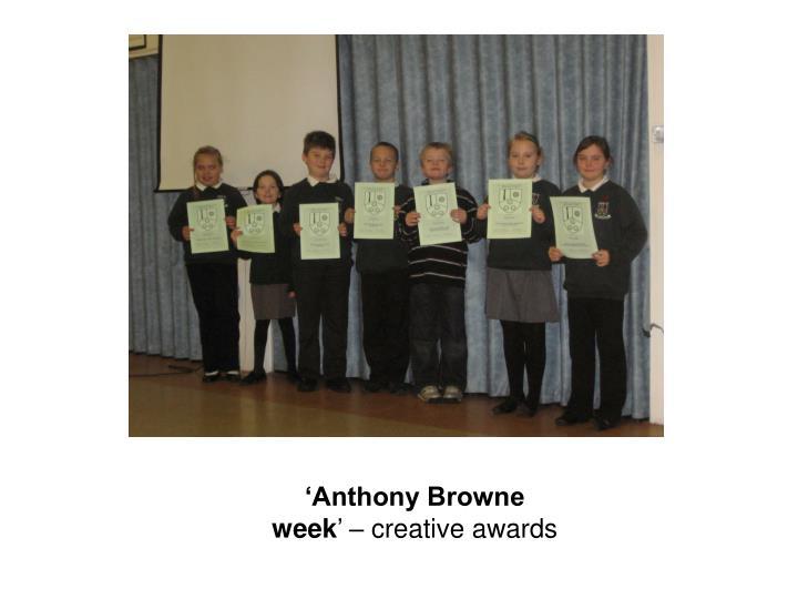 'Anthony Browne week