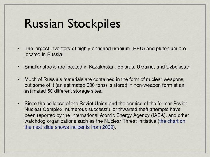 Russian Stockpiles