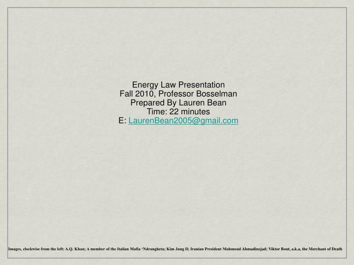 Energy Law Presentation