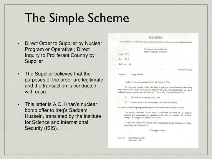 The Simple Scheme