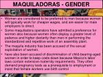 maquiladoras gender