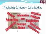 analyzing content case studies