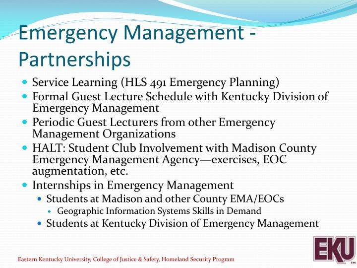 Emergency Management - Partnerships