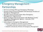 emergency management partnerships