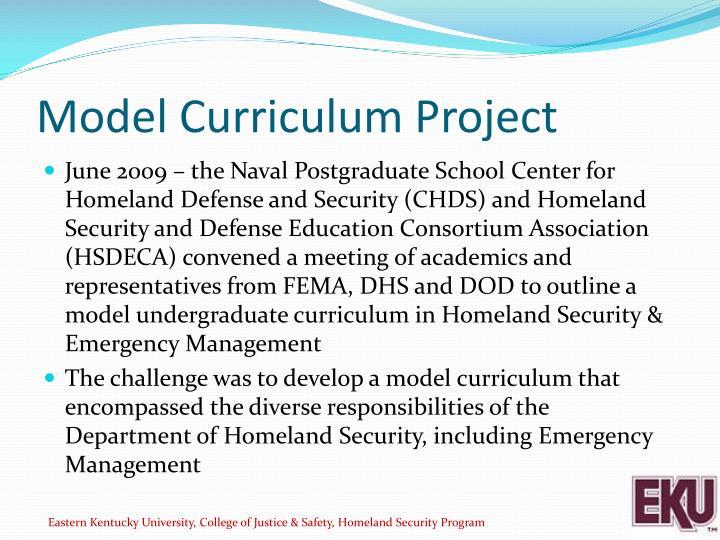 Model Curriculum Project