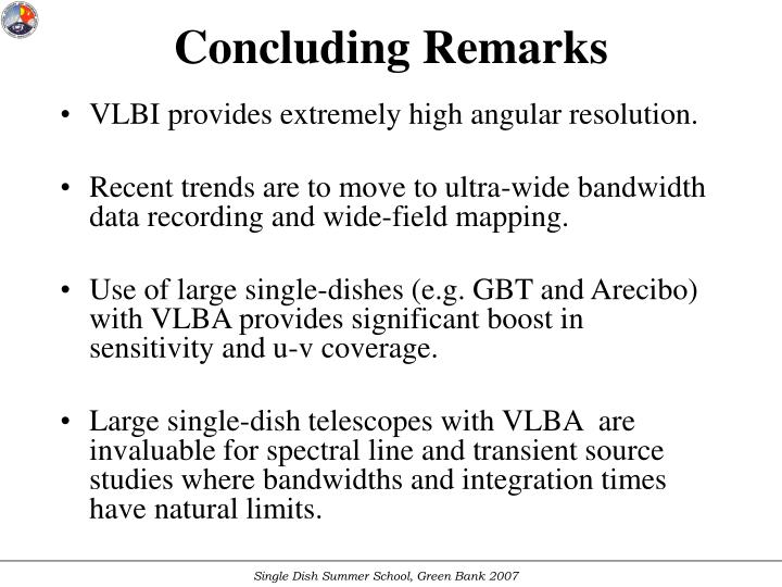 VLBI provides extremely high angular resolution.