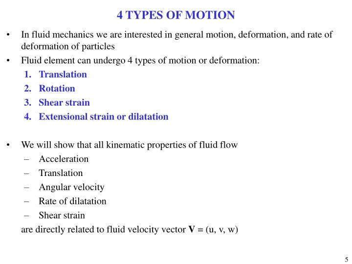 4 TYPES OF MOTION