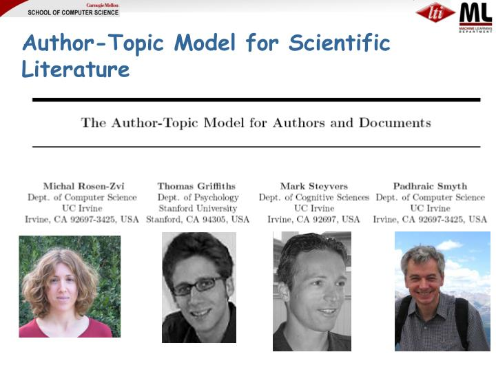 Author-Topic Model for Scientific Literature