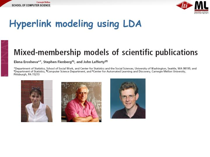 Hyperlink modeling using LDA