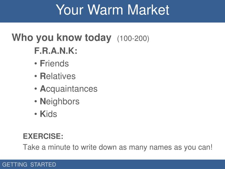 Your Warm Market