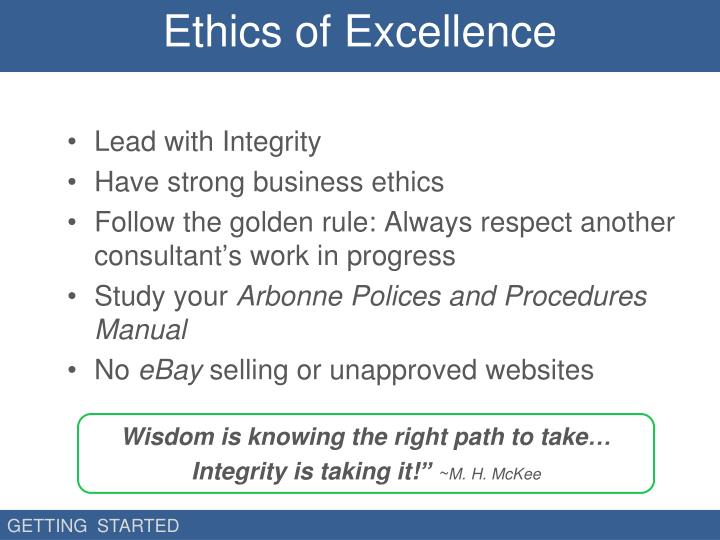 Ethics of Excellence