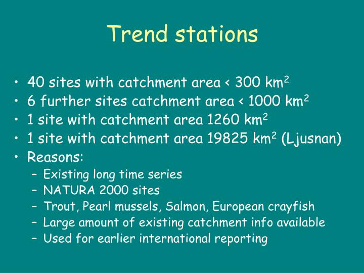 Trend stations