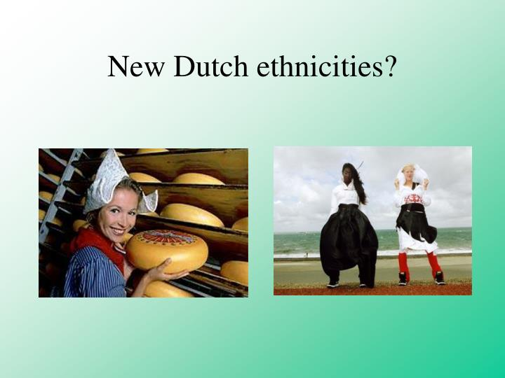 New Dutch ethnicities?