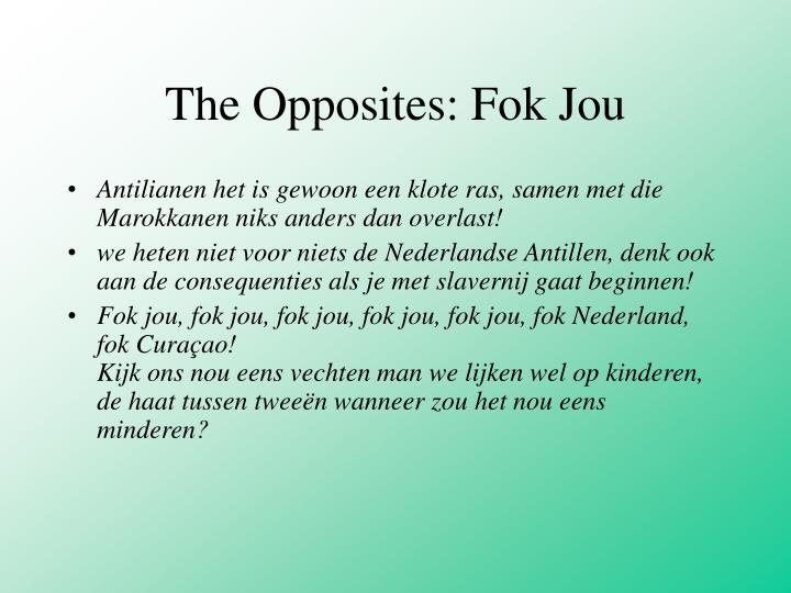 The Opposites: Fok Jou
