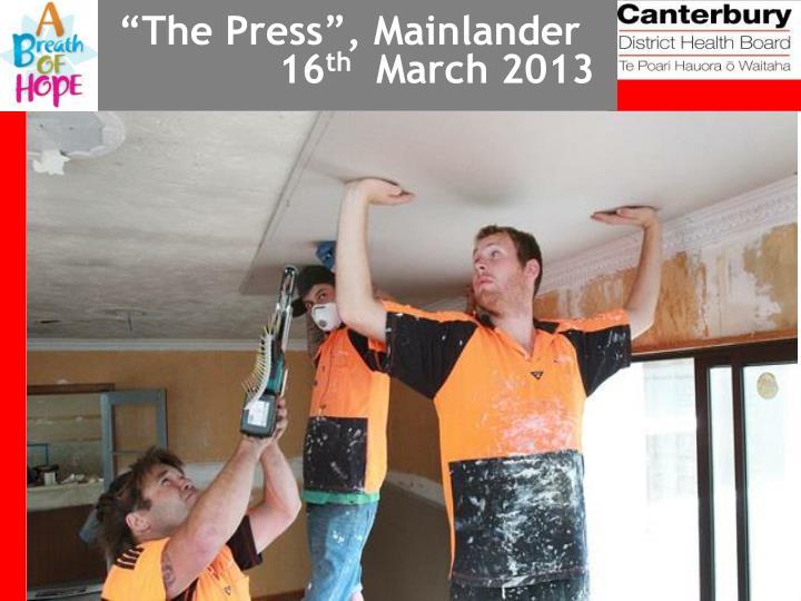 """The Press"", Mainlander"
