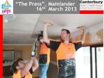 the press mainlander 16 th march 2013