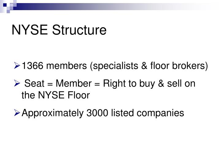 Nyse structure