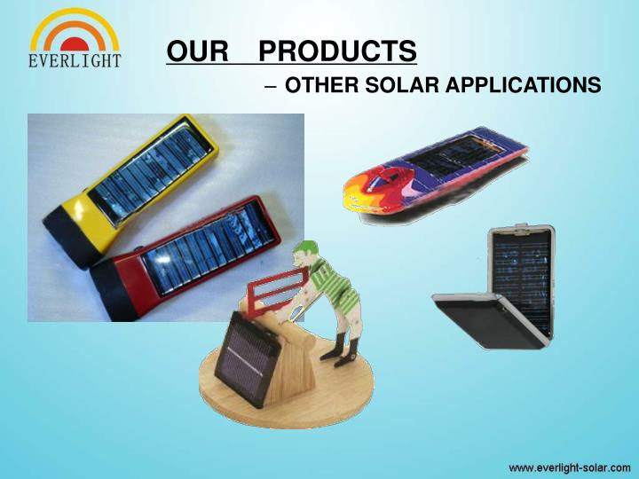 OTHER SOLAR APPLICATIONS