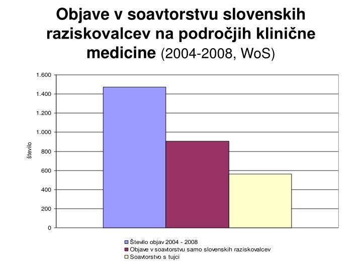 Objave v soavtorstvu slovenskih raziskovalcev na področjih klinične medicine