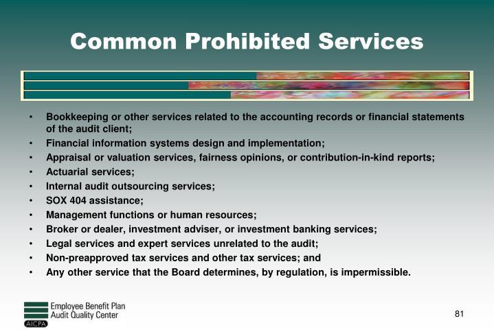 Common Prohibited Services