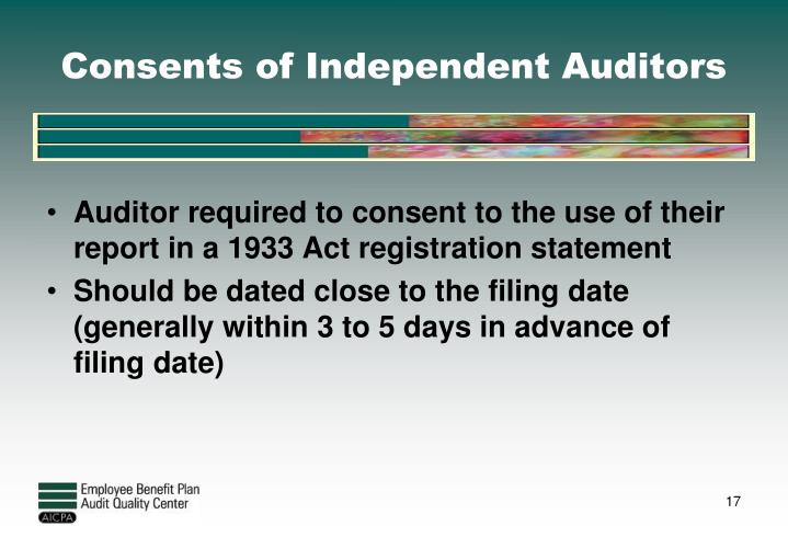 Consents of Independent Auditors