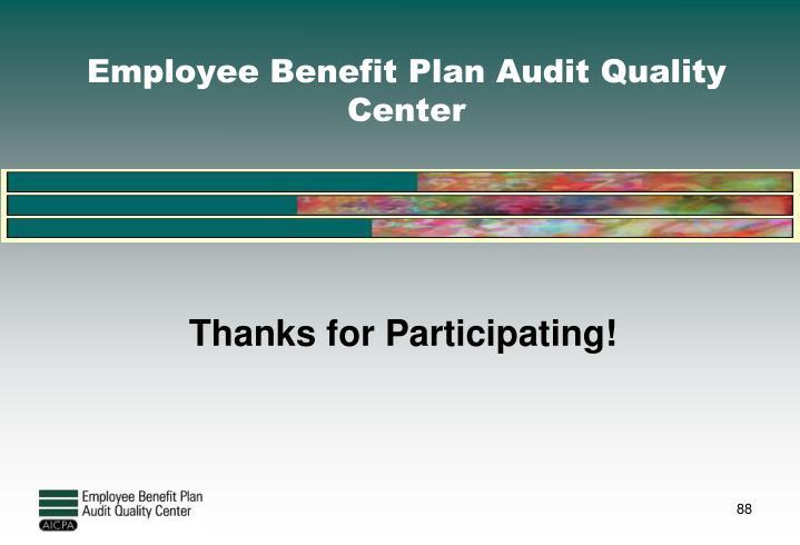 Employee Benefit Plan Audit Quality Center