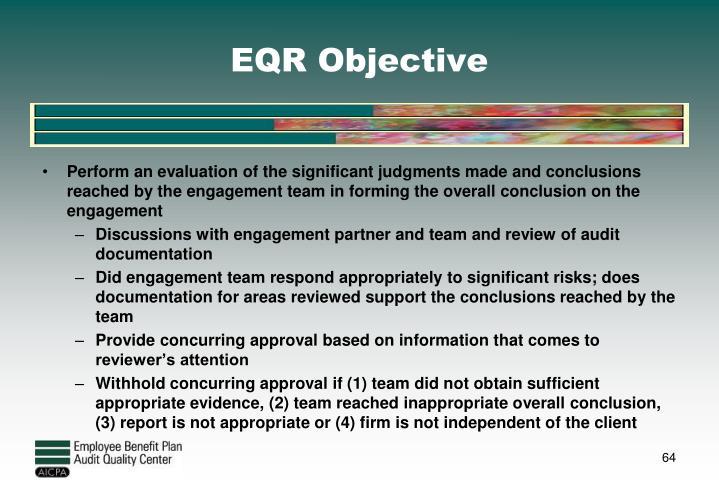 EQR Objective