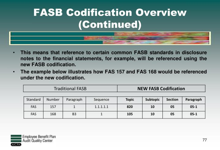 FASB Codification Overview