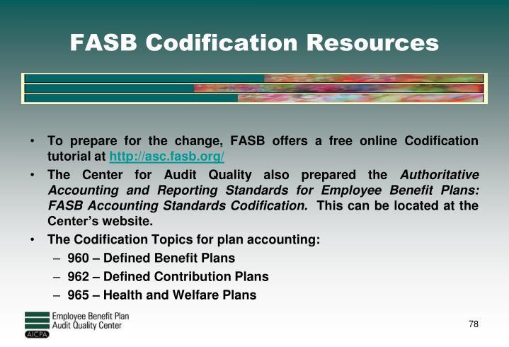 FASB Codification Resources